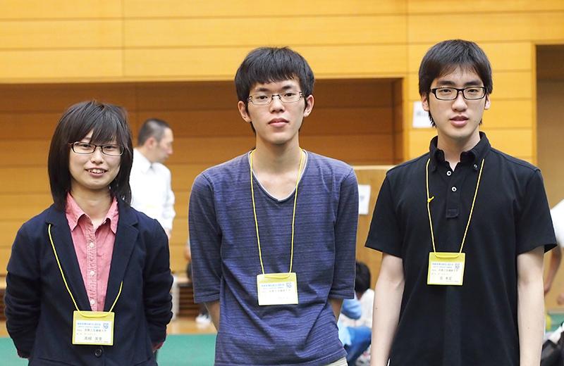 写真左より高根英里さん、田中健太郎さん、呉希宣さん