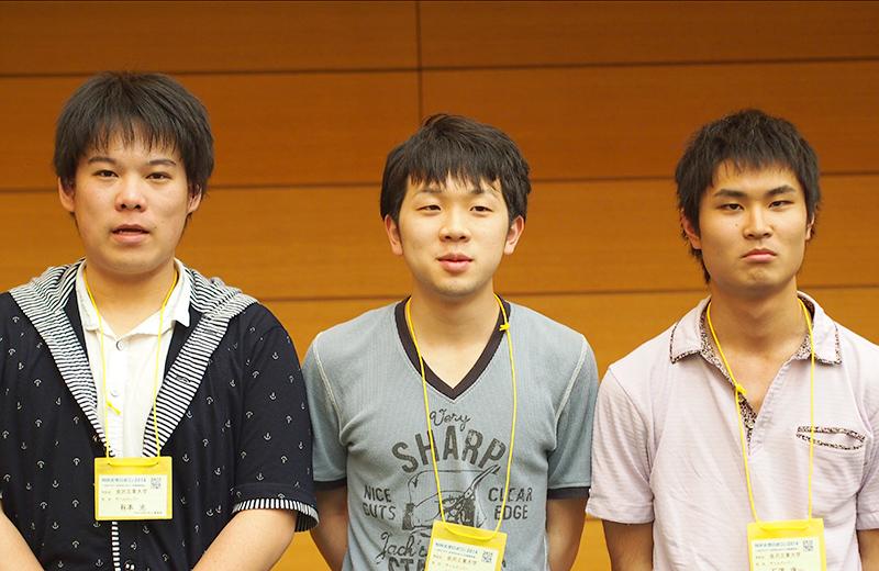 写真左より有本光さん、坂下文彦さん、石澤康一さん