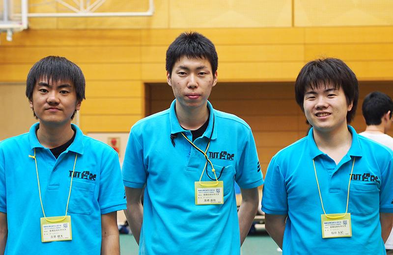 左より吉見健太さん、高橋直晧さん、福田友紀さん