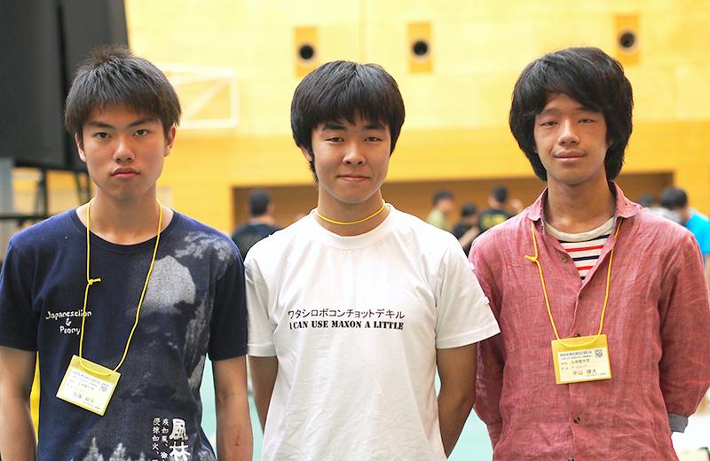 写真左より加藤純平さん、麻生翔太さん、平山健太さん