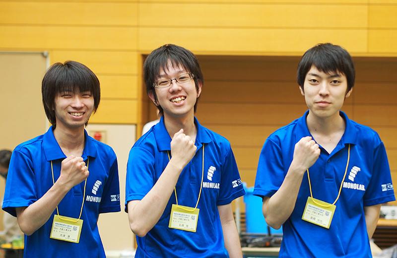 写真左より大津湧さん、石原祥さん、高橋知也さん