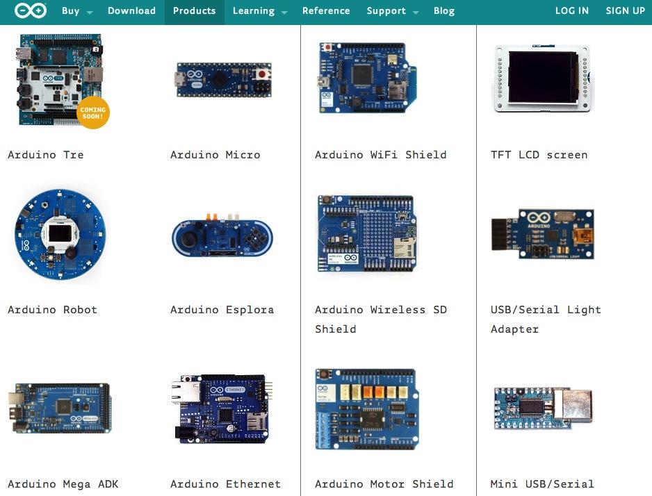 Arduinoには様々な種類があります