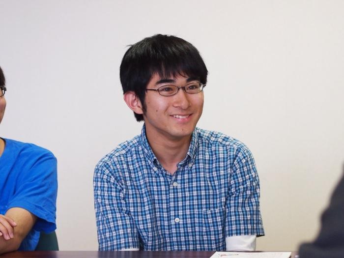 野々目朋晃さん(情報工学科3年・親ロボットの操縦と制御を担当)