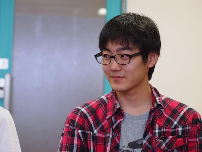 大竹翔太さん(電気電子工学科3年:親ロボットの回路を担当)