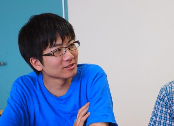 牧島拓也さん(機械工学科3年:親ロボットの整備を担当)