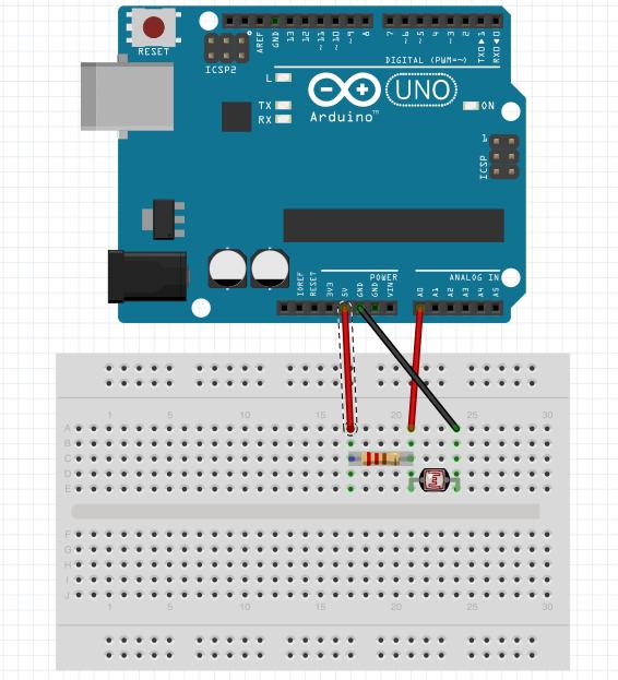 Arduino光センサー入力