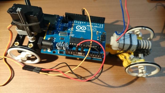 Arduinoを本体に載せてみる