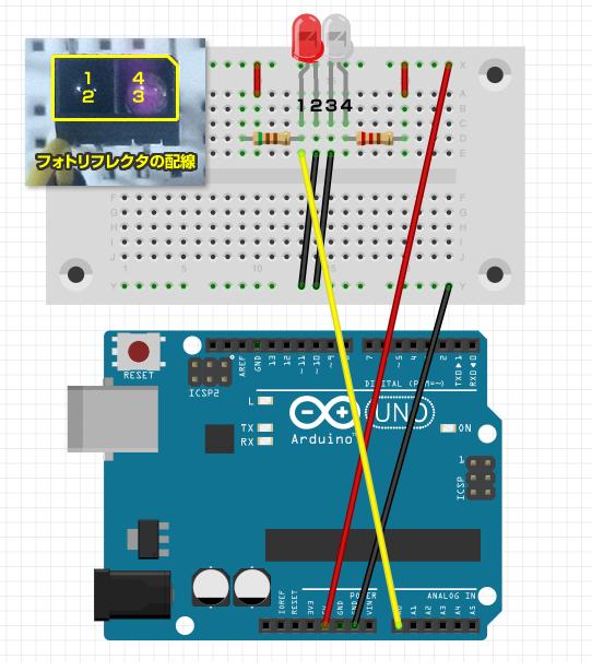 図1 フォトリフレクタのテスト回路図