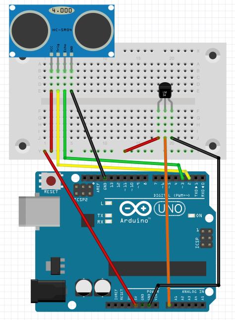 図3 温度センサを加えた回路