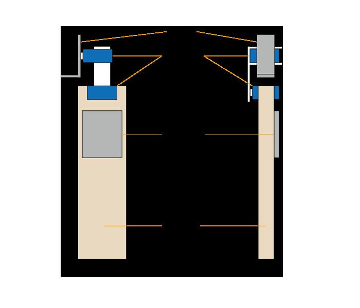 図1 水平カメラデバイス手持ちバージョンの設計図