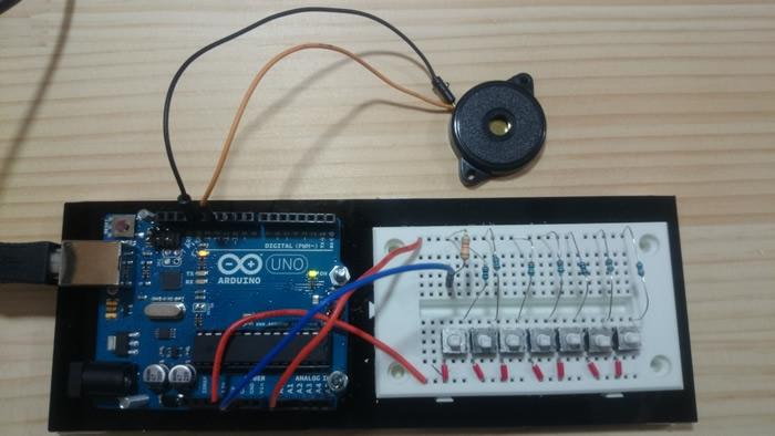 写真3 シンプル楽器ガジェットの回路