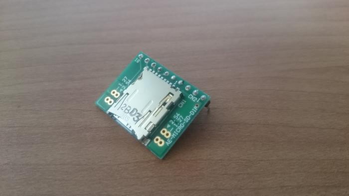 写真2 microSDカードスロットDIP化キット