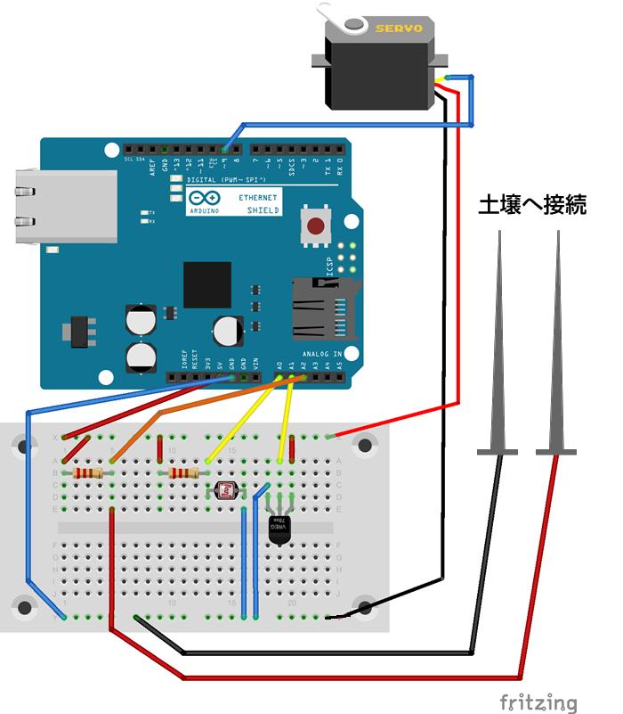 図7 観葉植物監視デバイス回路