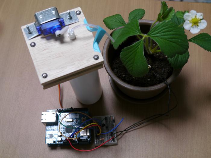 写真9 観葉植物監視デバイスが完成