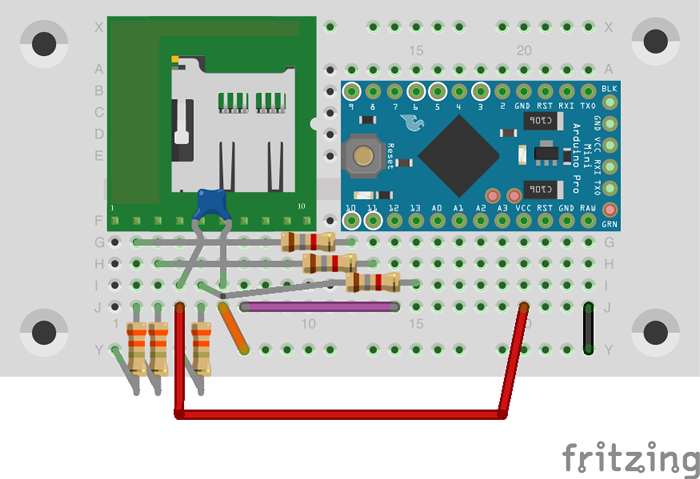 図9 SDカードの回路