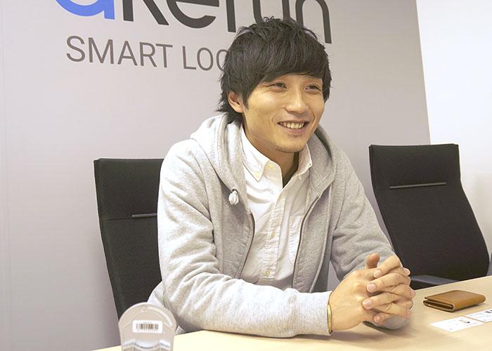 VP of mechanical design関谷 達彦さん。家電メーカー出身。