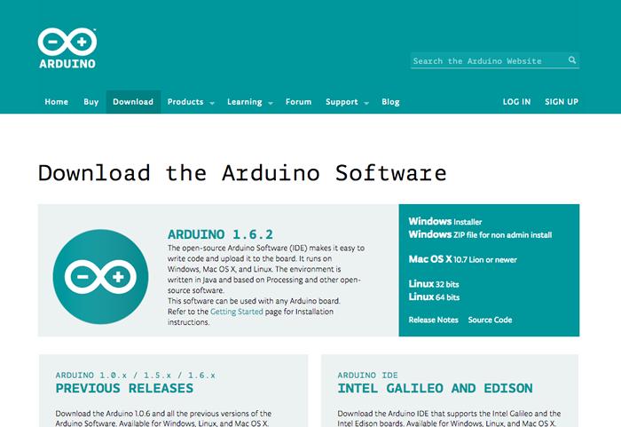 図1 arduino.ccのダウンロード画面