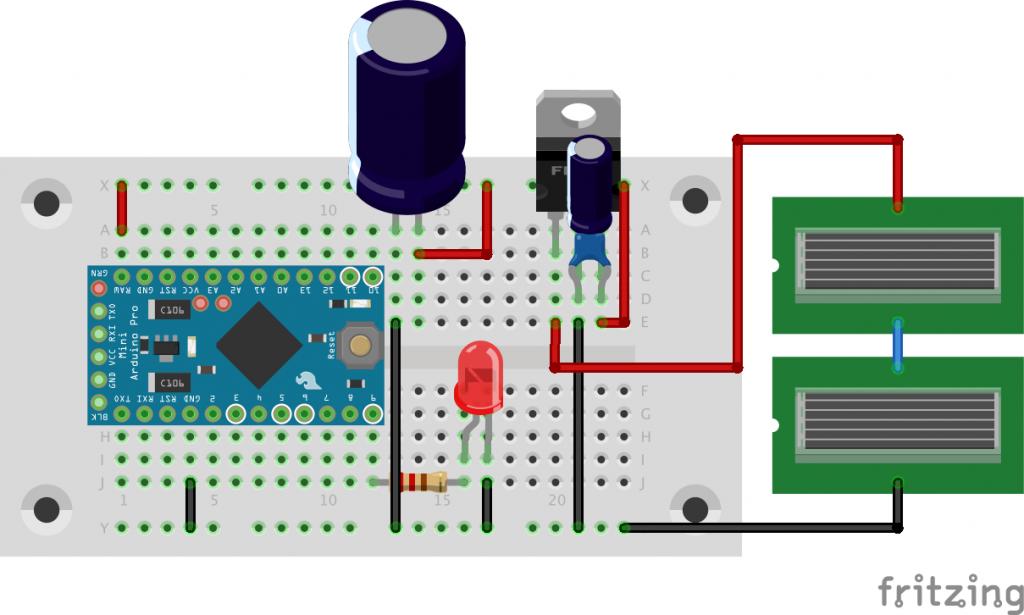 図3 充電回路でLチカ