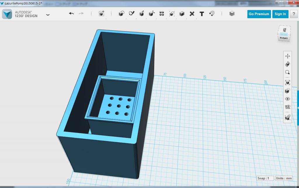 図2.製作途中の水やりマシンのケース(下側)
