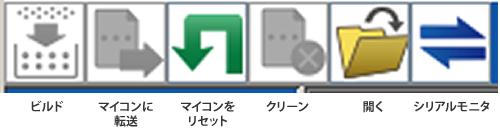 図2.Lazruite IDEのボタン