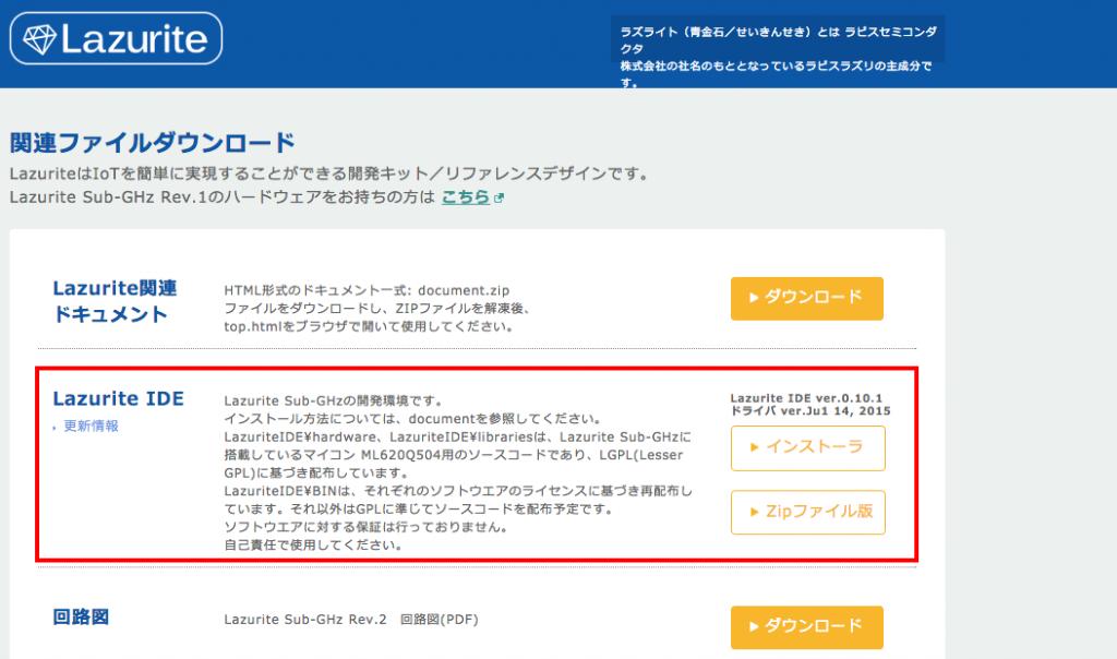 写真5.IDEのダウンロード