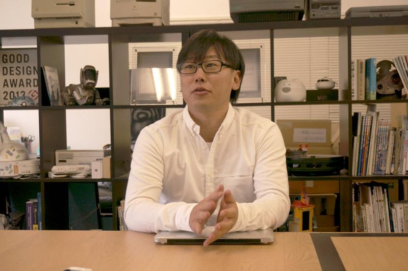 青木さんが審査委員を務めるグッドデザイン賞のロゴがちらり