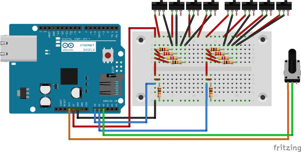 図3 リズムマシンインタフェース回路
