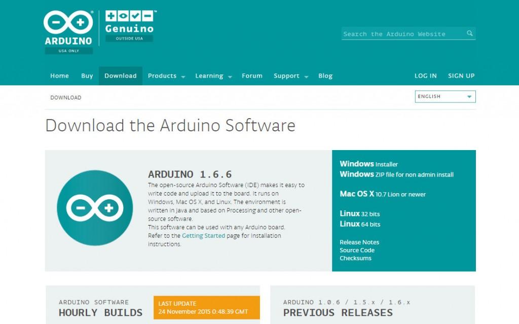 図1 arduino.ccのIDEダウンロード画面