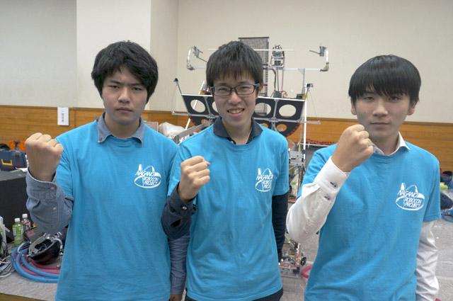 写真左より田中佑樹さん、中村哲也さん、笠原健さん