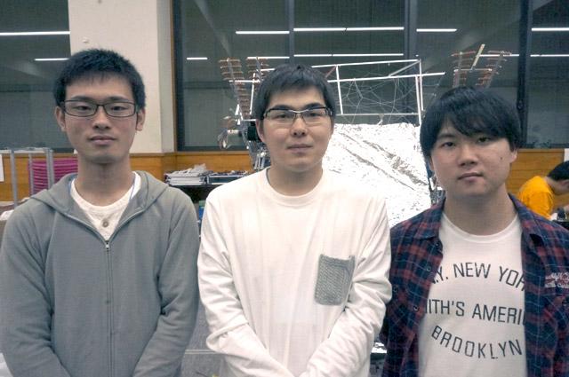 写真左より前田大輝さん、間部僚太さん、横井一広さん