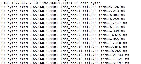 図8 別のPCからESP-WROOM-02に対して接続テスト(ping送信)