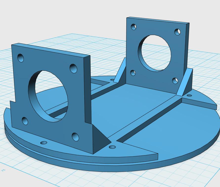 図2 木板とステッピングモーターを固定するパーツ