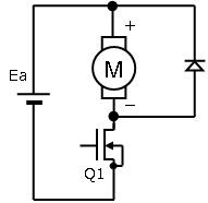 Fig-1 1MOSFETモータ駆動回路
