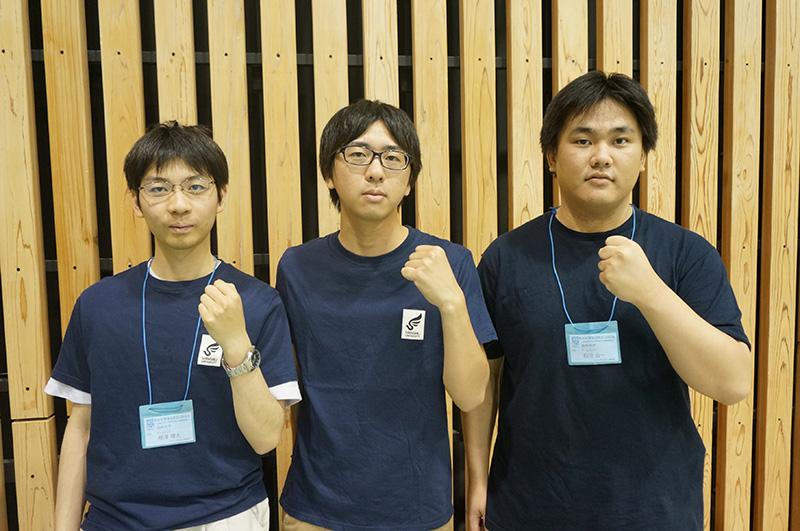 写真左より柳澤曙太さん、田中大輔さん、石川公一さん