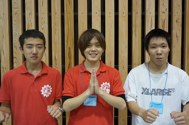 写真左より麻生将司さん、柴田大地さん、稲吉弘樹さん