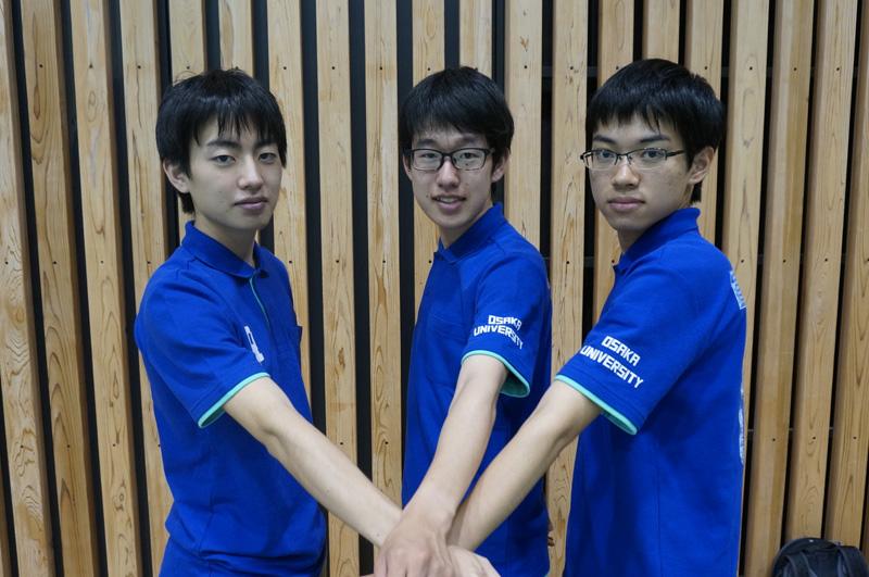 写真左より堀口修平さん、田中颯樹さん、都留将人さん