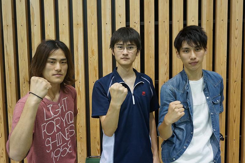写真左より木村敏之さん、河野史也さん、平山哲朗さん