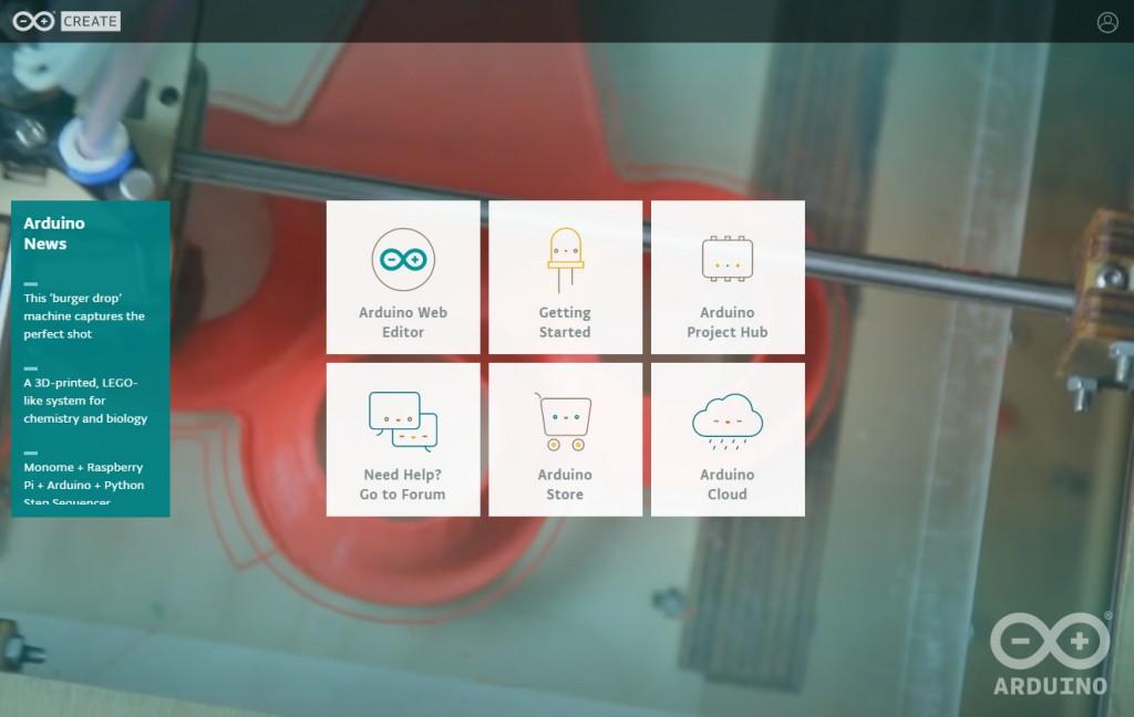 写真2 オンラインでArduinoが使える「Arduino Create」
