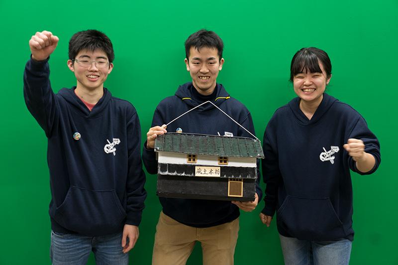 写真左より松野将馬さん、福林明日香さん、塚越統哉さん