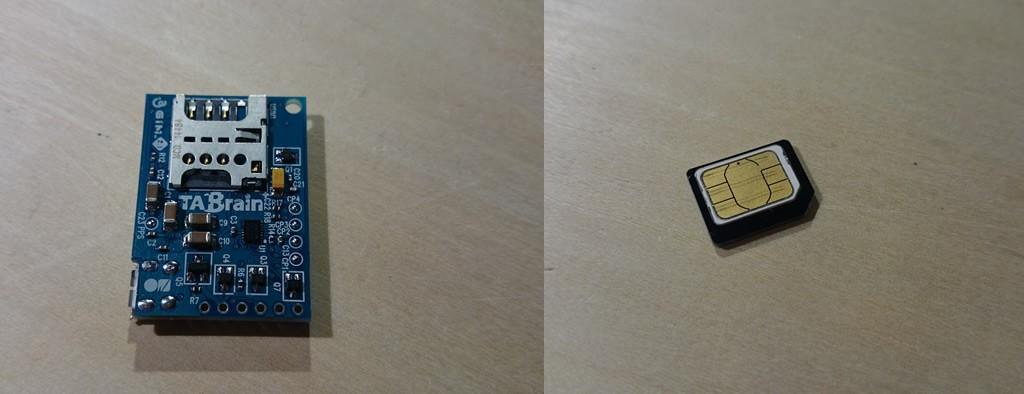 写真6 3GIM本体のSIMソケットとSIMカード