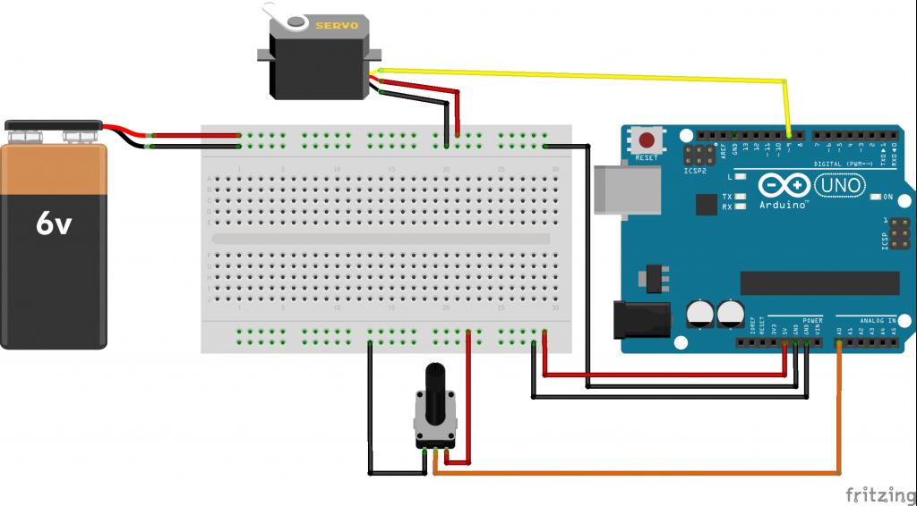 図4 サンプルスケッチの回路