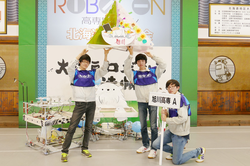 チームメンバー:門前 秀弥さん、厚母 誉さん、堀田 雄斗さん