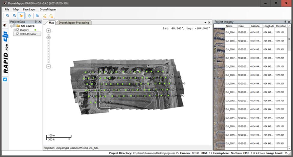 3Dマッピング2(DroneMapperRapidスクショ)