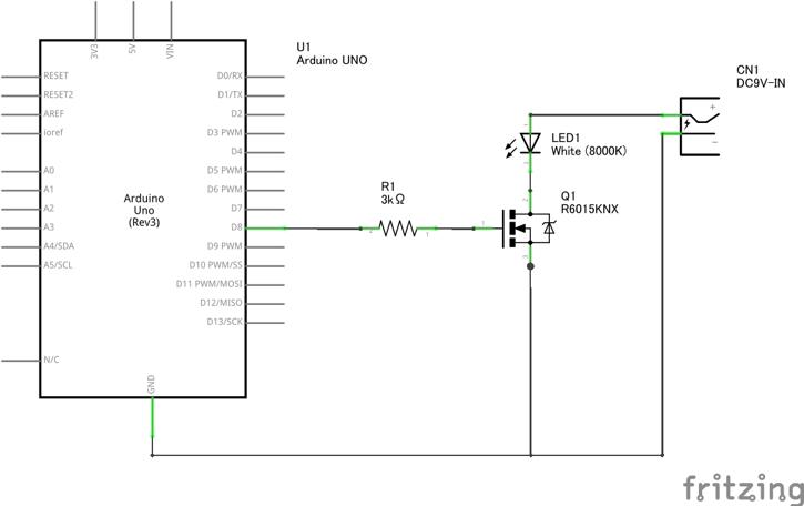 LED制御回路の回路図