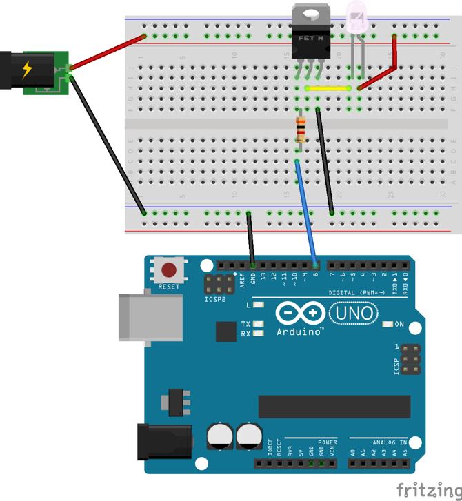 LED制御回路の配線図