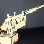 ラズパイ電子工作の基本② サーボモータで制御できる輪ゴム鉄砲砲台を作る