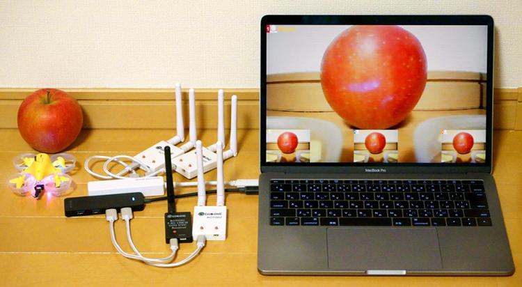 PCと簡易受信機でモニタリング可能なTiny View Plus