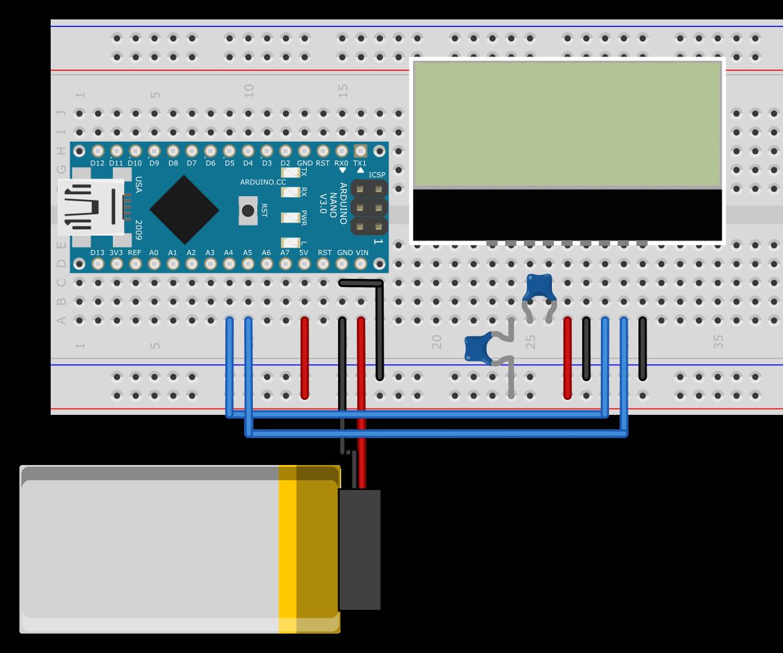 キャラクター液晶ディスプレイの接続図