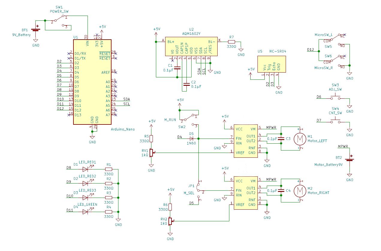 チキンレーサーの回路図